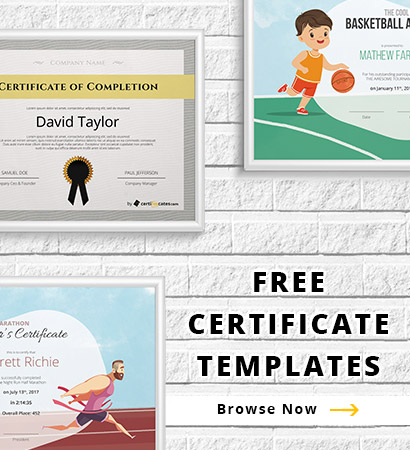 Browse Certificates  Free Employee Of The Month Certificate Template