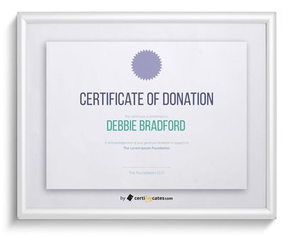 Free Certificate Of Donation  Certificate Of Donation Template