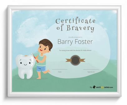 Free kids certificate templates for word certifreecates for Bravery certificate template