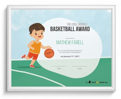 kids basketball award