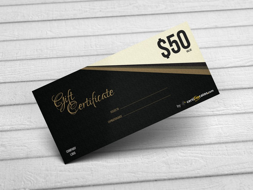 luxury gift certificate
